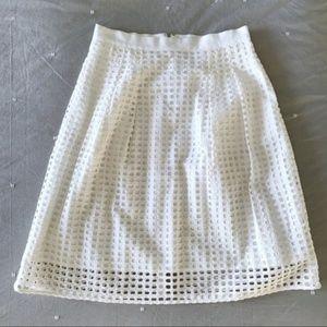 NWT | LOFT | Eyelet Midi Skirt